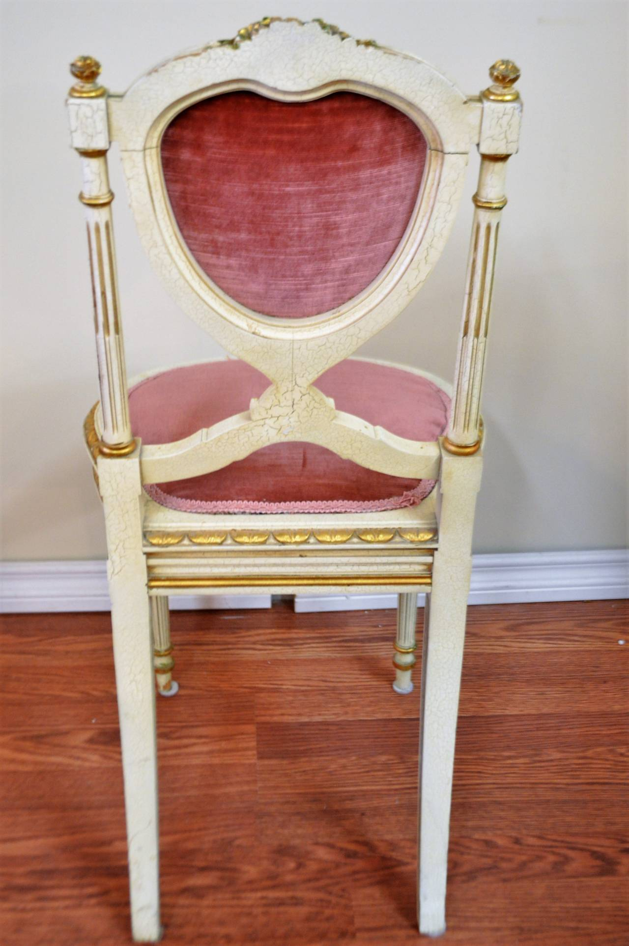 Heart Chair Louis Xvi Style Heart Shape Backside Chair At 1stdibs
