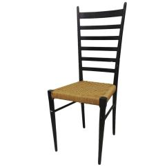 Ladder Back Chair Wheelchair Access Width Tall Italian With Rush Seat At 1stdibs