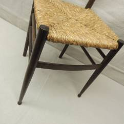 White Ladder Back Chairs Rush Seats Folding High Chair Uk Italian Side With Seat At 1stdibs