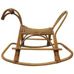 Horseshoe Rocking Chair Zinger Folding Franco Albini Bamboo Horse At 1stdibs