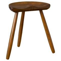 3 Legged Chair Orange Modern Danish Three Milking Stool By Hovmand Olsen
