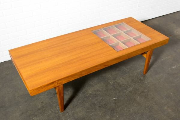 Rare Danish Modern Coffee Table Selig 1stdibs