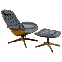 Mid-Century Modern Lounge Chair and Ottoman by George ...