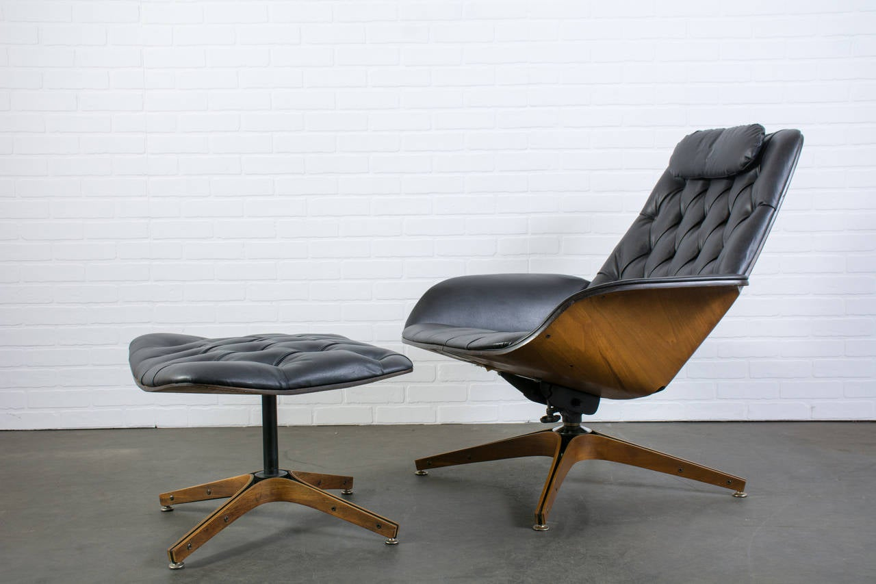 Mid Century Modern Lounge Chairs Mid Century Modern Lounge Chair And Ottoman By George