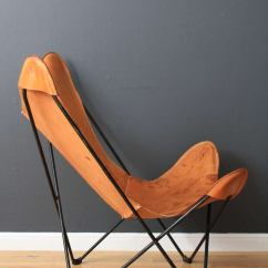 Canvas Sling Chair Pilates On Exercises Vintage Mid-century Butterfly At 1stdibs