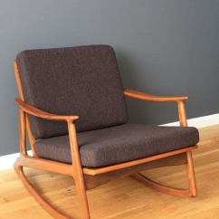 Mid Century Rocker Chair Zipped Folding Mid-century Modern Rocking At 1stdibs