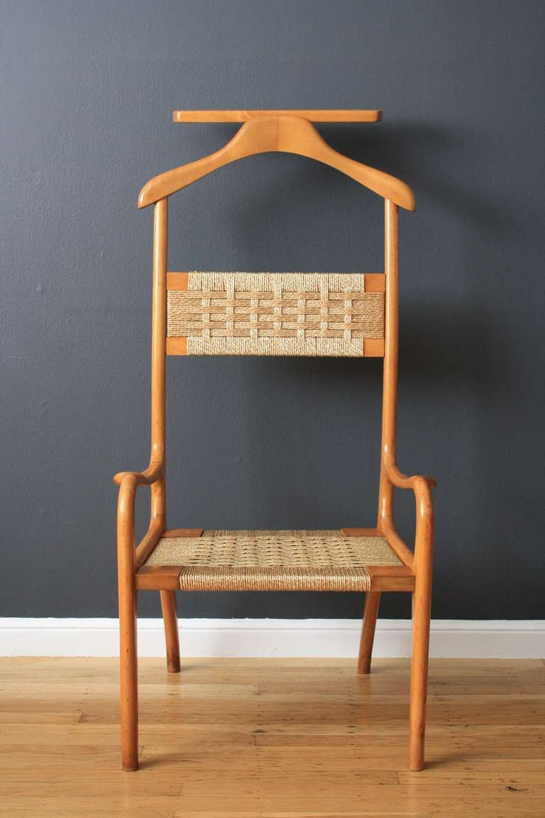 Vintage MidCentury Valet Chair at 1stdibs