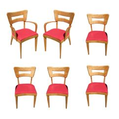 6 Dining Room Chairs Vibrating Baby Bouncer Chair Heywood Wakefield M154 Quotdogbone Quot Set Of Six