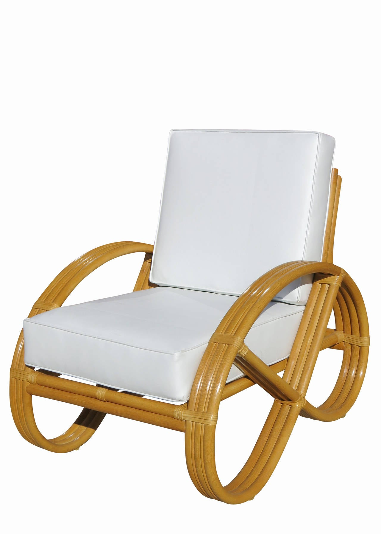Pretzel Chair Restored Round Pretzel Arm Rattan Re Edition Lounge Chair
