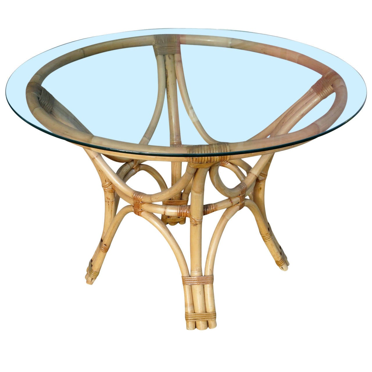 Glass Tables And Chairs Rattan Bent Wood Dining Table With Round Glass Top For