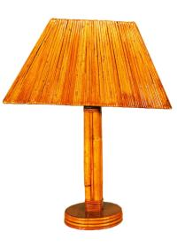 Rattan Pole Lamp with Split Rattan Lamp Shade at 1stdibs