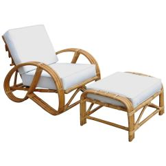 Wicker Chairs With Ottoman Underneath Swing Chair Indoor Rare Rebuilt Rattan Reclining Lounge 3 4