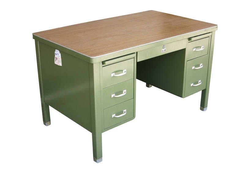 allsteel task chair dining covers australia general fireproofing executive tanker desk with at 1stdibs