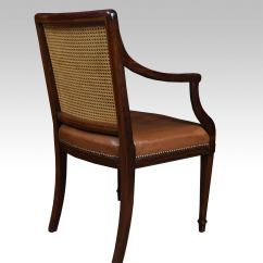 Arm Chairs Fold Out Lawn Chair Pair Of Mahogany Hepplewhite Style Office Armchairs At 1stdibs