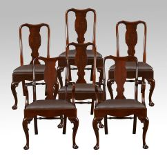 High Back Dining Chairs Motorhome Chair Covers Set Of Six Early 20th Century Queen Anne Style