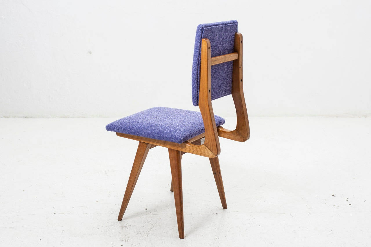 Five Chairs Set Of Five Chairs 1950s At 1stdibs