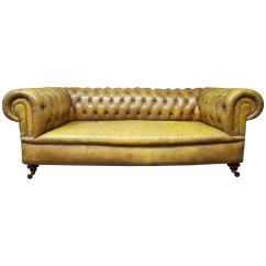 Chesterfield Leather Sofa Small Double Foam Bed At 1stdibs