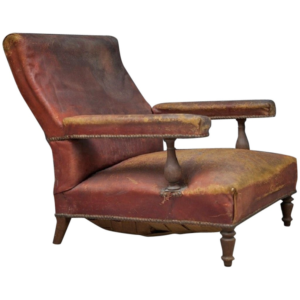 Leather Arm Chairs Low Leather Armchair At 1stdibs