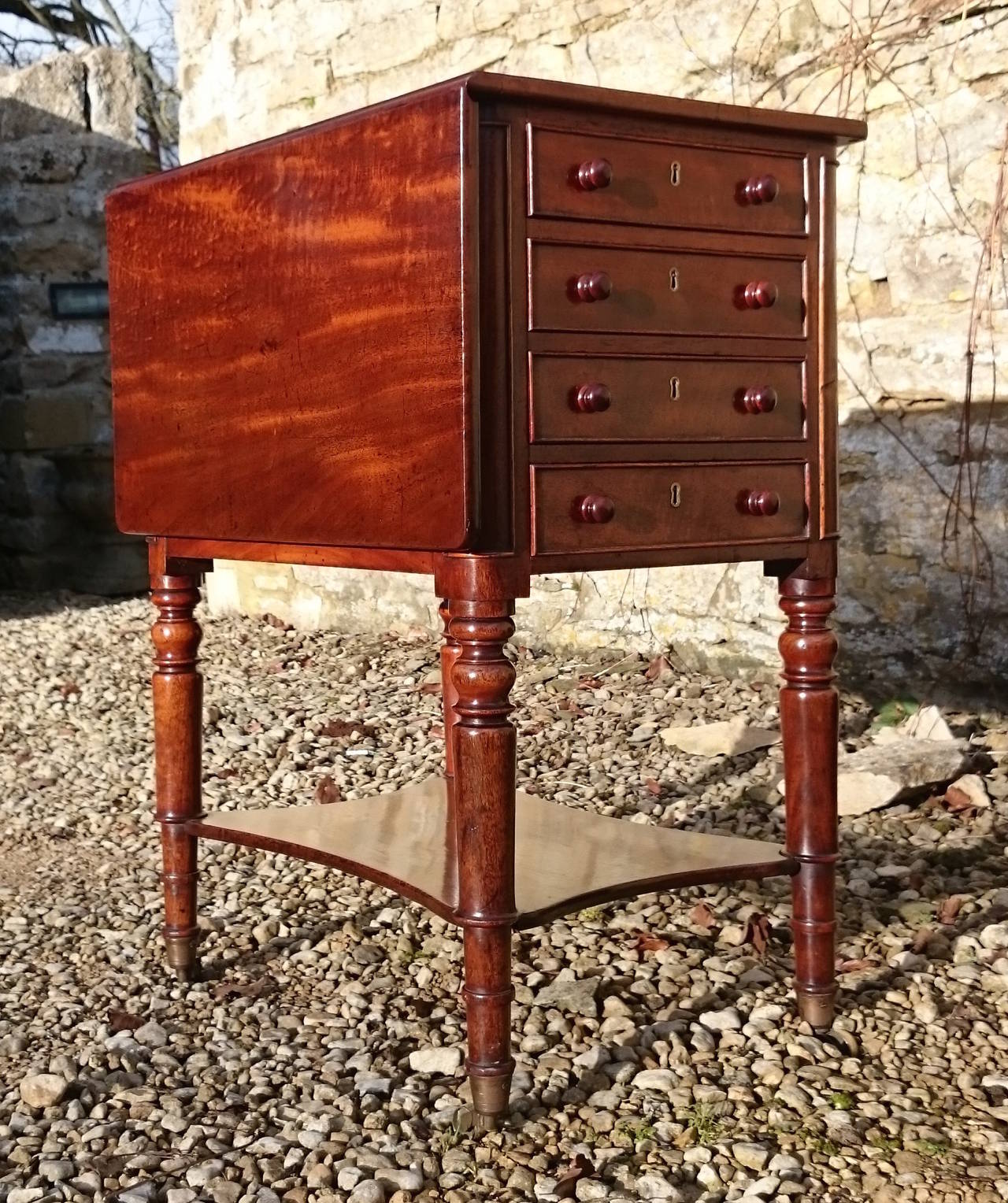 chair side book stand teak wood revolving antique mahogany companion at 1stdibs
