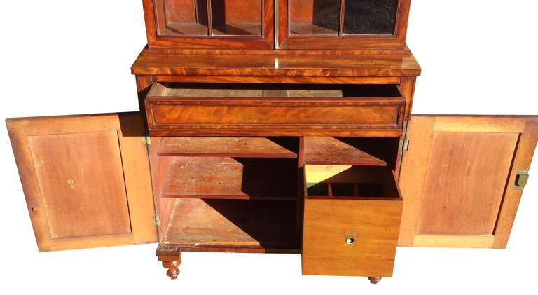 Antique Bookcase China Cabinet Drinks Cabinet For Sale