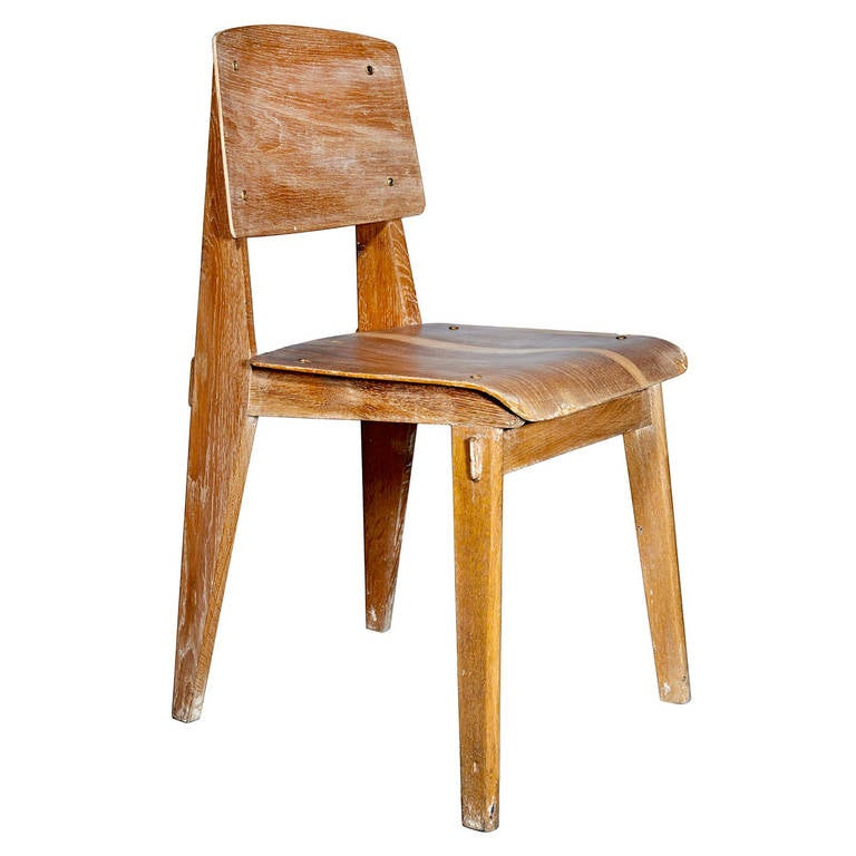 All Wood Chair by Jean Prouv at 1stdibs