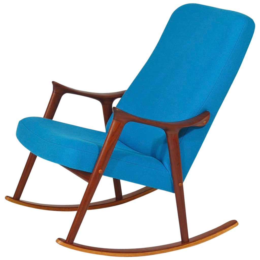 mid century danish chair picnic time folding rocking at 1stdibs