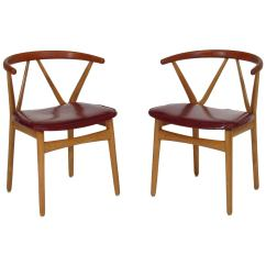 Danish Dining Chair White Wooden Hire Midcentury Henning Kjaernulf Chairs At 1stdibs