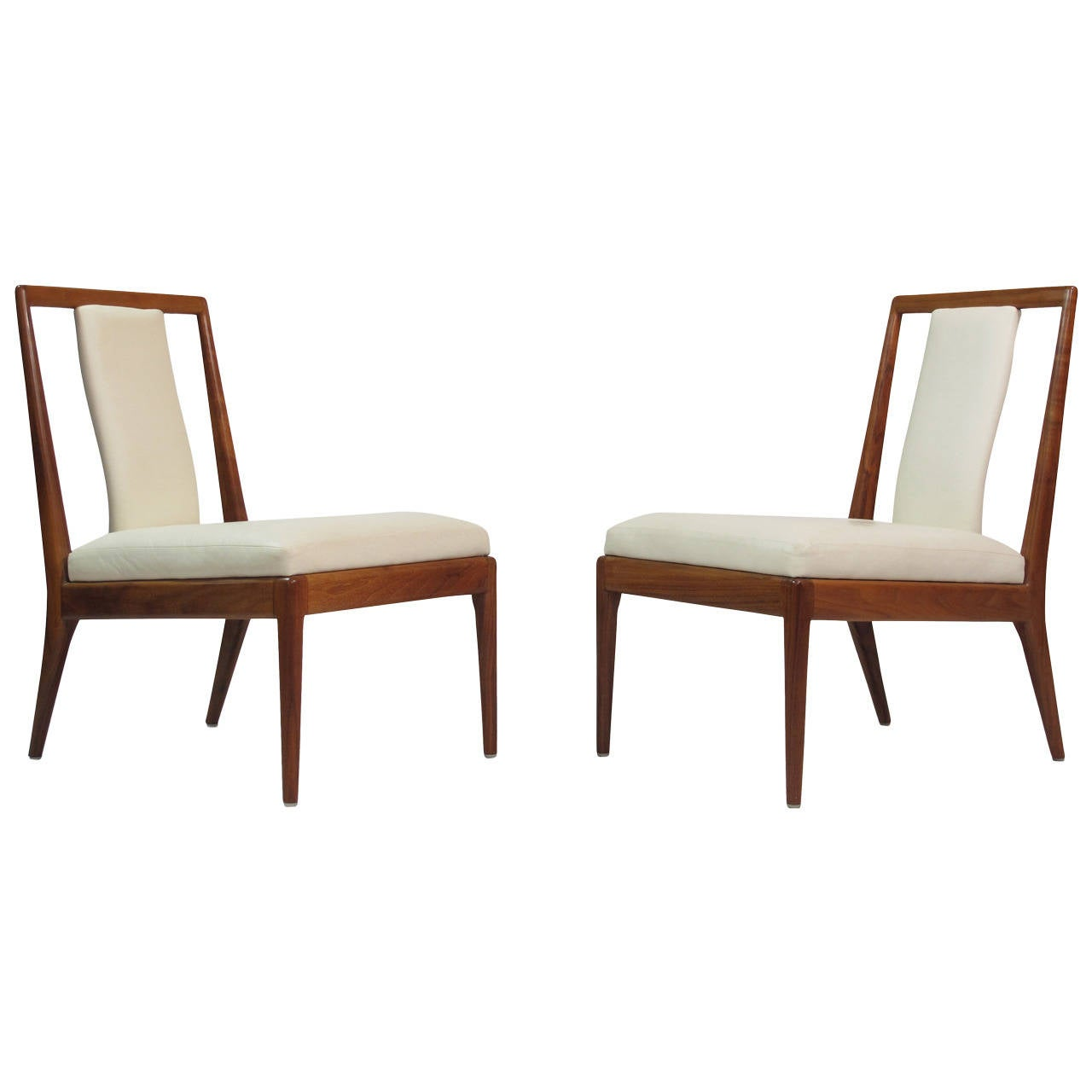 white leather slipper chair office chairs hanoi walnut for sale at 1stdibs
