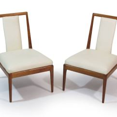 White Leather Slipper Chair Best Turkey Hunting Chairs Walnut For Sale At 1stdibs