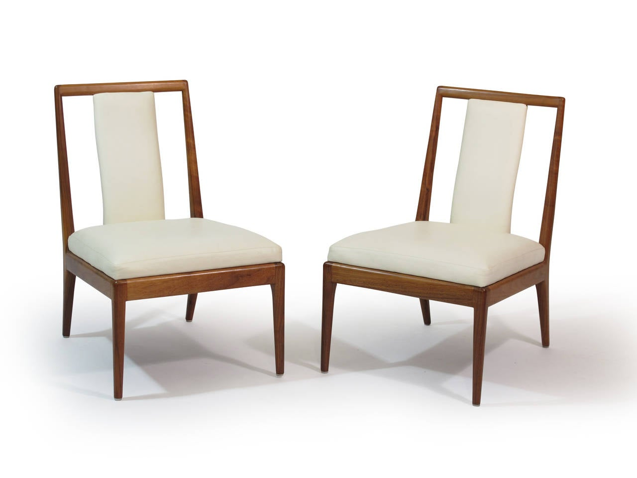 white leather slipper chair desk pillow walnut chairs for sale at 1stdibs
