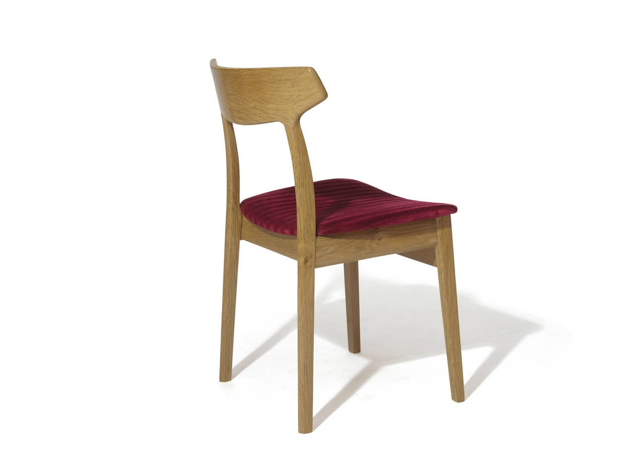 oak and white dining chairs steel chair malaysia henning kjærnulf danish for sale
