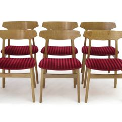 Oak And White Dining Chairs Chair Covers Hire Manchester Henning Kjærnulf Danish For Sale