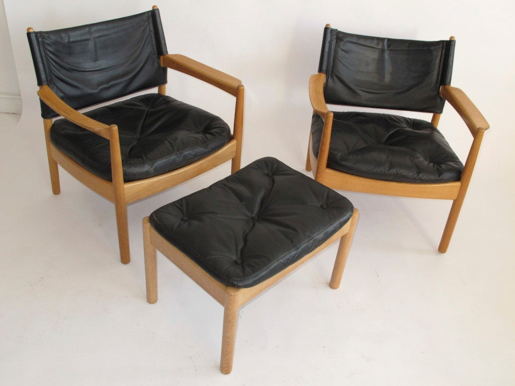 swedish leather recliner chairs vintage baby high chair black lounge at 1stdibs