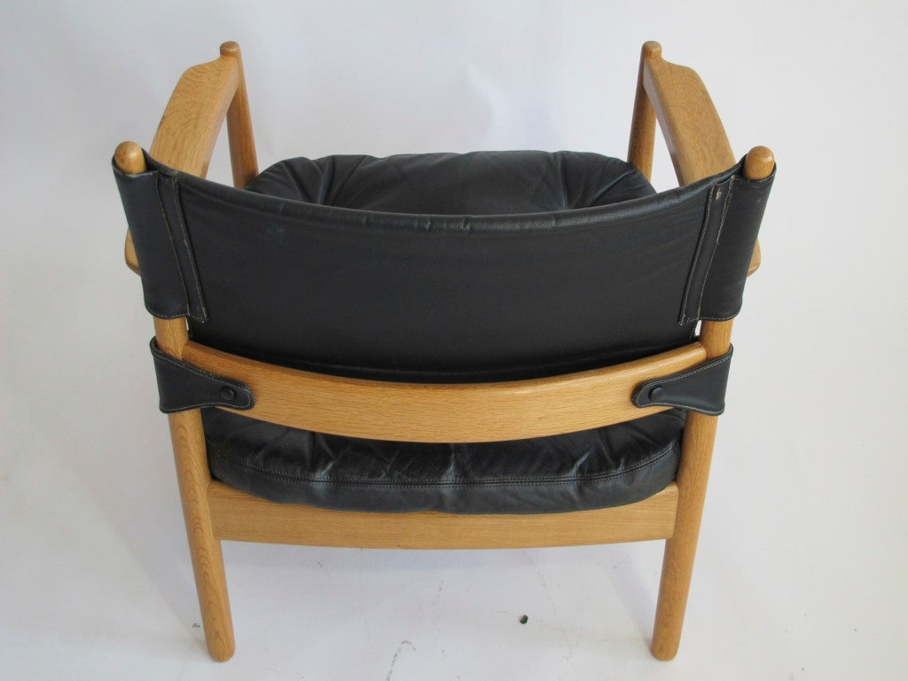 swedish leather recliner chairs wedding chair covers hire bridgend black lounge at 1stdibs