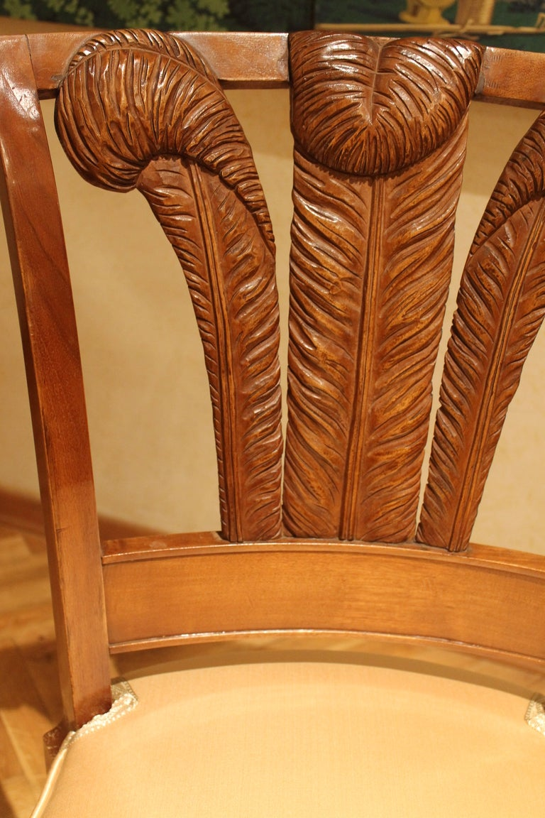 Pair Of Italian Dining Chairs For Sale At 1stdibs