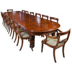 Victorian Table And Chairs Stressless Recliner Chair Vintage Mahogany Dining With 14 For