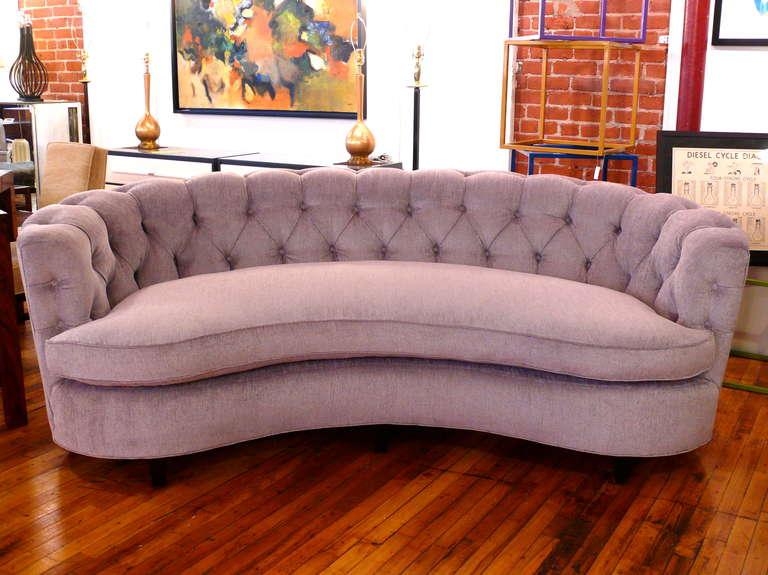 crescent sofa leather calia italia kaufen curved tufted casey modern back ...