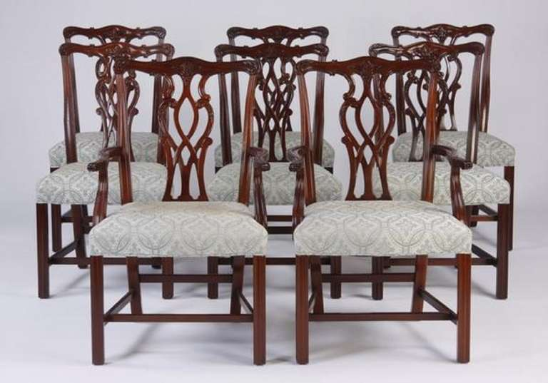 chippendale dining chair tent table and rentals late 19th early 20th century set of eight style chairs the serpentine