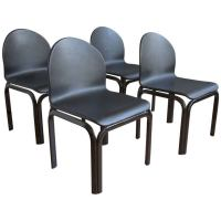 Set of Four Dining Chairs by Gae Aulenti for Knoll ...