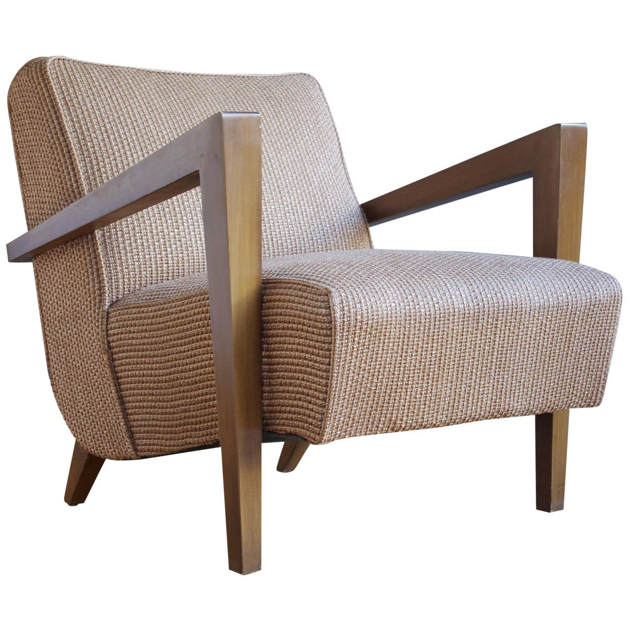 Mid Century Lounge Chair Sculptural Mid Century Modern Lounge Chair At 1stdibs