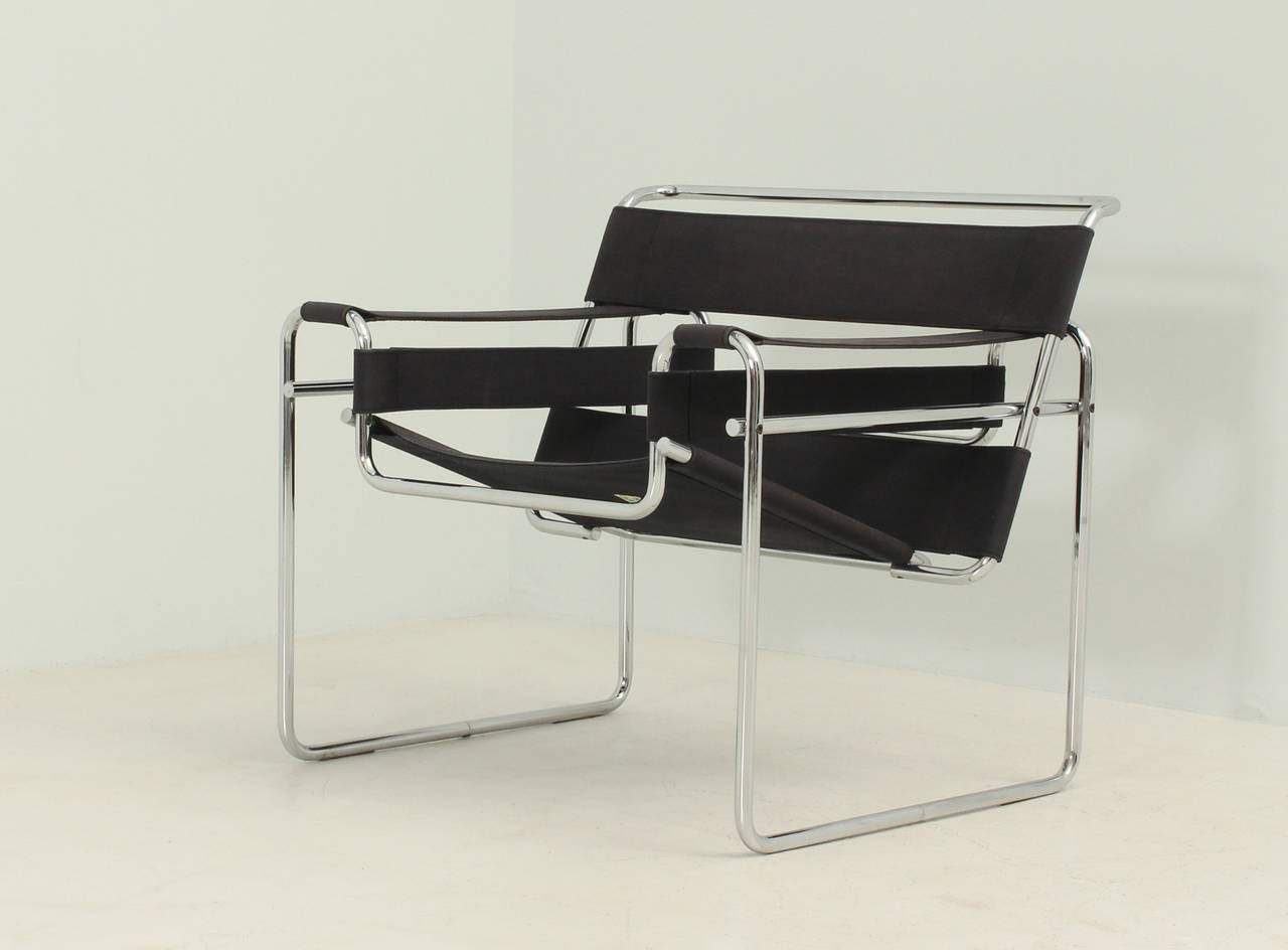 marcel breuer chair original standing office wassily by for gavina at 1stdibs