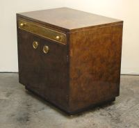 Pair of Mastercraft Nightstands With Acid Etched Brass at ...