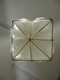 Murano Caged Glass Pendant Lamp at 1stdibs