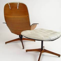 Cream Lounge Chair Office Kneeling Color Leather Upholstered Plycraft Quotmister Quot