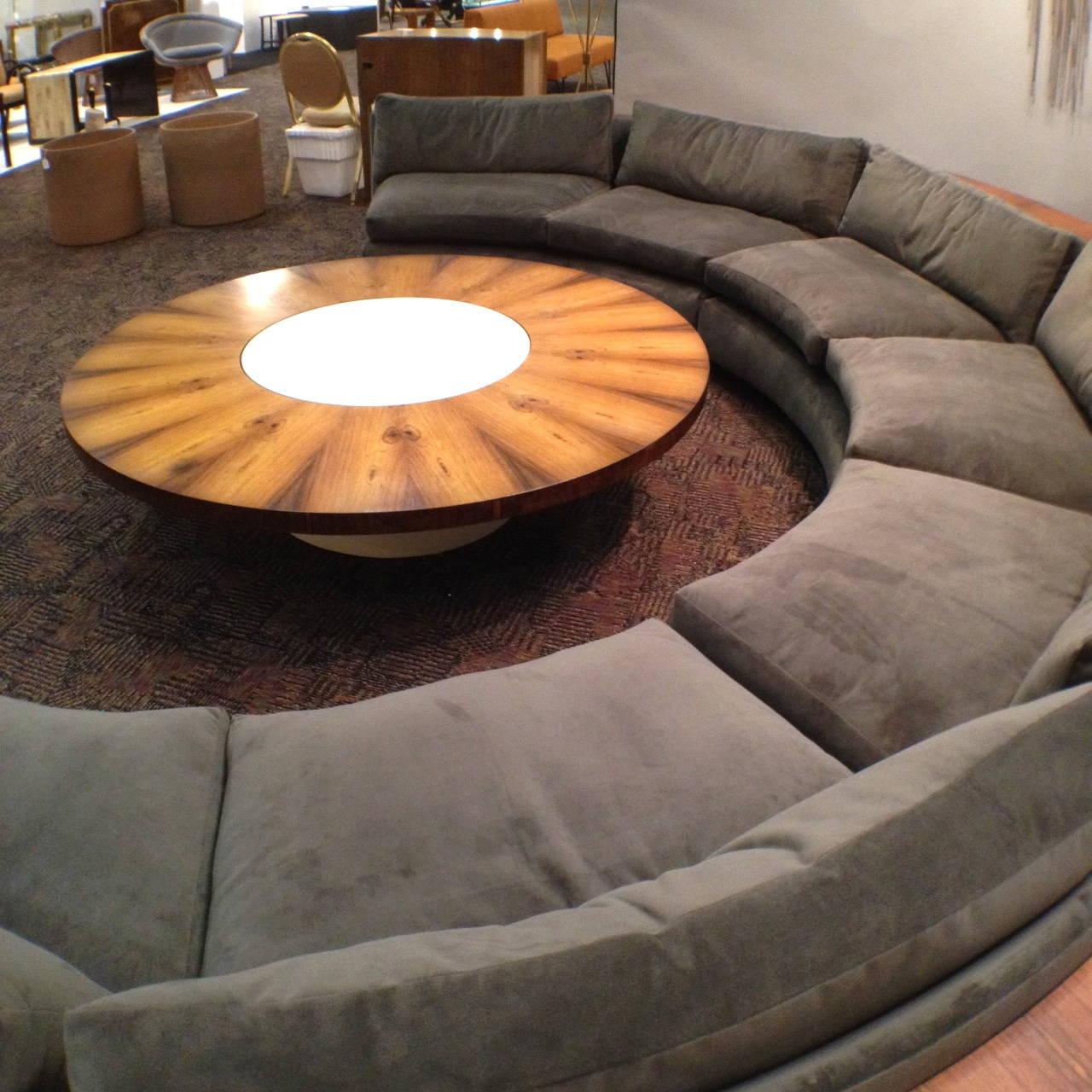 half circle sofas grain sack sofa complete milo baughman thayer coggin sectional
