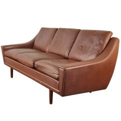 Mogensen Sofa 2209 Red Reclining Sets Fine Danish Modern Leather At 1stdibs
