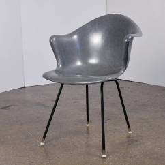 Fiberglass Shell Chair Red High Back Vintage Molded At 1stdibs