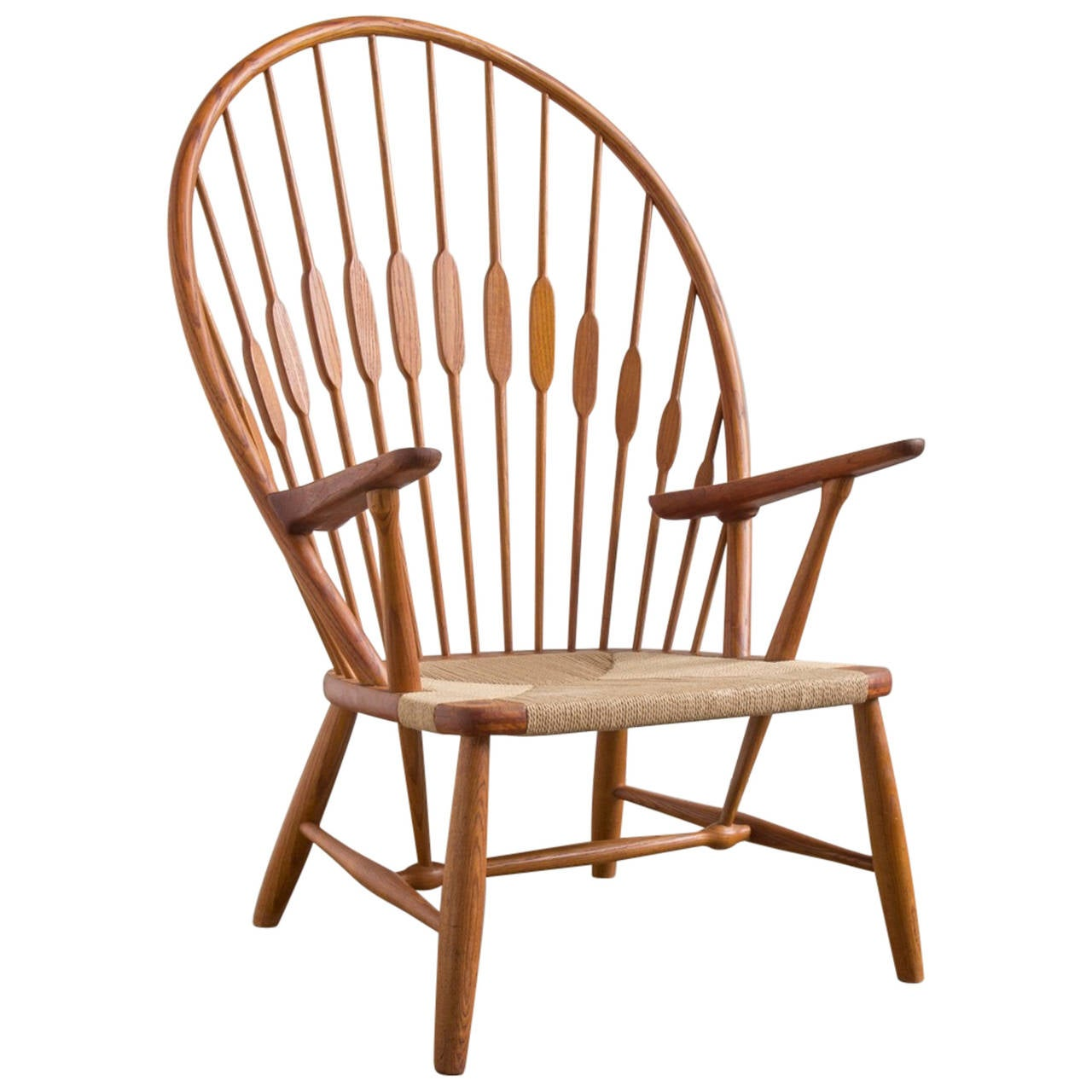 hans wegner the chair steel englisch peacock by at 1stdibs