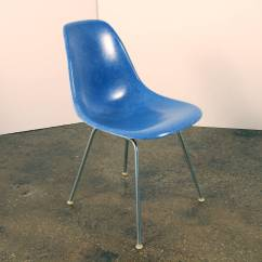 Fiberglass Shell Chair Acrylic Chairs Canada 8 Eames Herman Miller Blue At 1stdibs