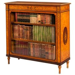 Bookshelf Chair For Sale Office Arms Replacement Parts Uk Antique Satinwood Inlaid Bookcase Cabinet At 1stdibs